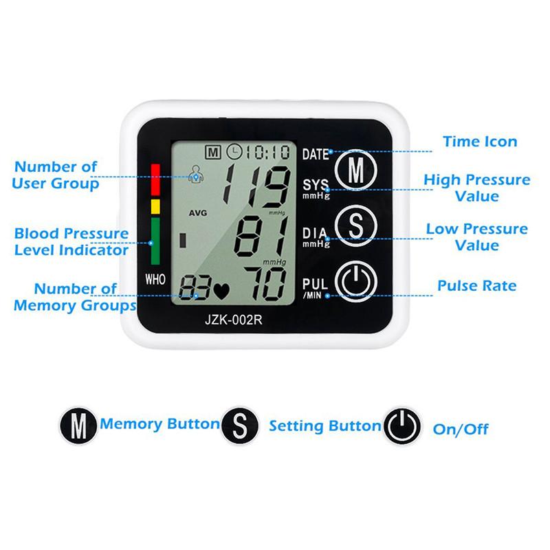 Portable Automatic Wrist Blood Pressure Monitor